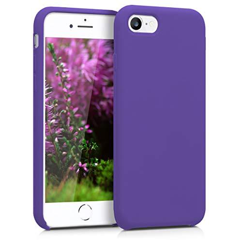 kwmobile Cover compatibile con Apple iPhone 7/8 / SE (2020) - Custodia in silicone TPU - Back Case protezione cellulare porpora