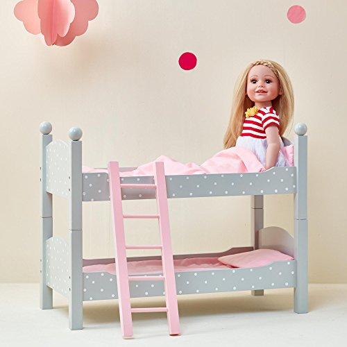 Etagenbett Puppenbett aus Holz Puppenzubehör Puppen-Möbel Olivias World TD-0095AG