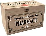 khevga - Caja con Tapa de Madera y decoración con Motivos de Farmacia (23 x 13...
