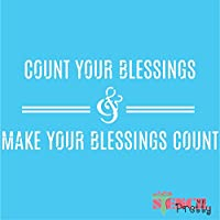 Count Your Blessings ステンシル - シックで宗教的なDIY装飾 Multipack (L, XL, MG) SMP-JN76-L-XL-MG