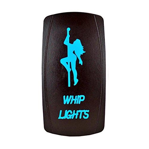 STVMotorsports Laser rétro-éclairé Rocker Switch Girl Fouet Lumières 20A 12V on/Off LED Lumières Bleu