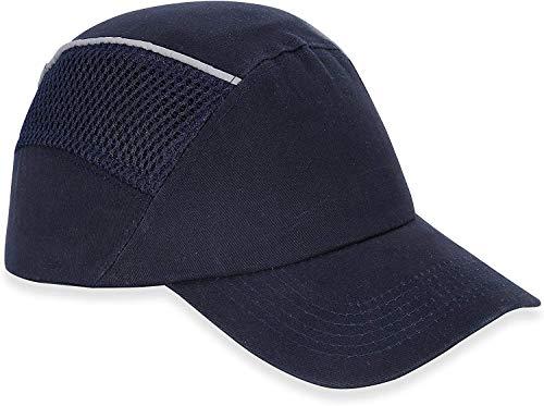 HOLULO Anstoßkappe Sicherheitsmütze Baseball-Stil Sicherheitskappe Schutzkappe Anti-Schock Arbeitskappe,Kopfschutz Schutzkappe Stoßschutzkappe,Marineblau