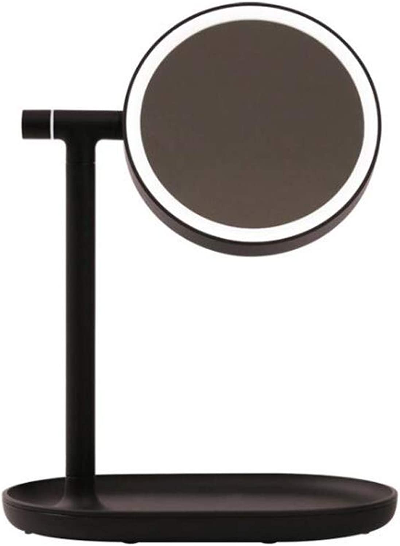 Beauty Fill Light Tischlampe, Kosmetikspiegel, LED Augenschutz Lernen Leselicht, Dimmbar USB Wiederaufladbare Tragbare Tischlampe,schwarz