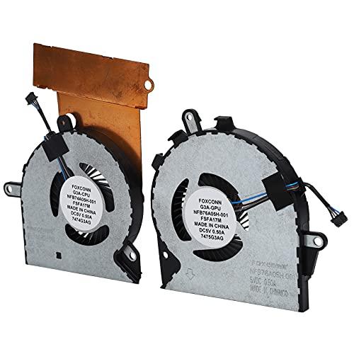 Surebuy Ventilador de refrigeración para portátil, Ventilador de Varias aspas para HP OMEN 15-CE 17-an