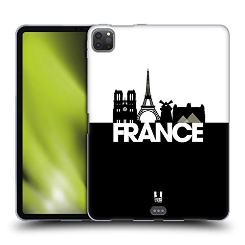 Head Case Designs France Black And White Skyline S3 Soft Gel Case Compatible for Apple iPad Pro 11 (2020)