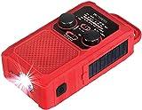 Retekess TR201 Radio a Manovella Solare, Radio di Emergenza FM AM, Batteria Ricaricabile 5000mAh, Torcia a LED e Luce di Lettura, Allarme di Emergenza SOS, per Escursionismo, Campeggio, Emergenza