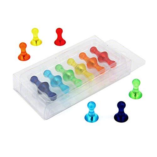 Magnet Expert® Petit fruité coloré quille aimants, assorti, 10 paquets de 12