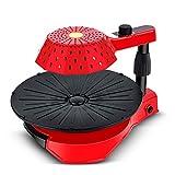 TWW Barbecue Électrique sans Fumée Grasse Gril Machine À Barbecue Poêle Antiadhésive Plaque De Barbecue Électrique Adaptée Au Ménage,Rouge