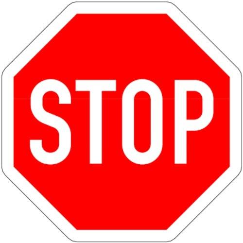 LEMAX® Schild Alu STOP! Vorfahrt gewähren Verkehrszeichen 206 600x600mm reflektierend