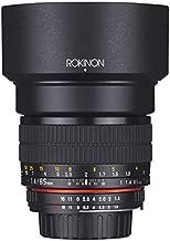 Rokinon 85M-P 85mm f/1.4 Aspherical Lens for Pentax (Black)