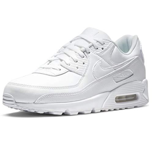Nike Herren AIR MAX 90 LTR Laufschuh, White White White, 41 EU