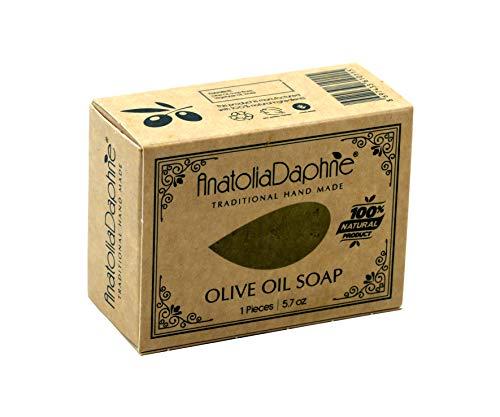 100% Natural Cold Pressed Olive Soap, Vegan, Moisturizing, Handmade, Body Soap, Face Soap,and Bath Soap, Detox Spa Soap Bar Gift Set (5.7 oz, Pack of 5)