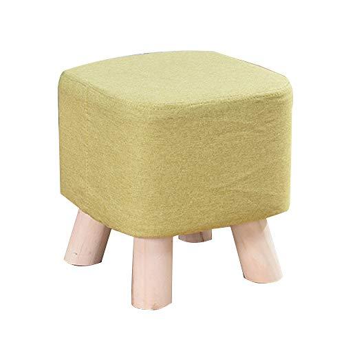 Monthyue Ottomaanse kruk, voet rust Ottomaanse poef voetbank opslag lage krukken vierkante poef stoel zitkussen voeten Kruk 4 houten benen