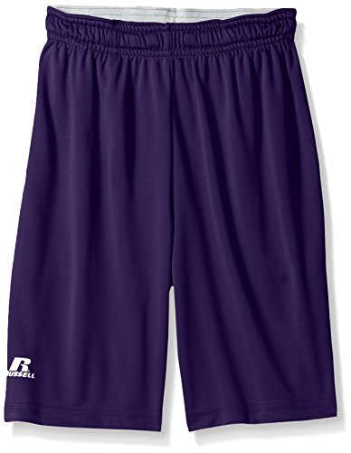 Russell Athletic Boys' Big Dri-Power Performance Short with Pockets, Purple, Large