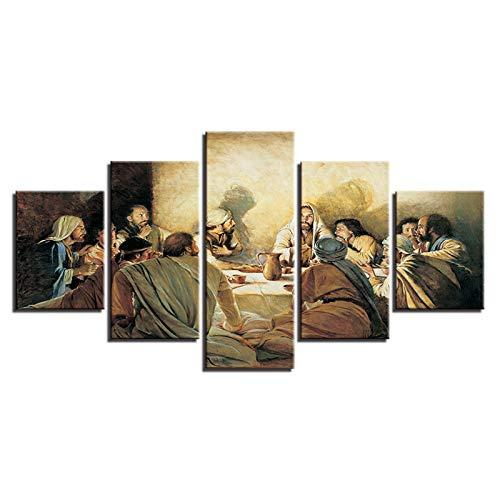 Canvas De 5 Pieza Jesús Cristo Religión Misionero Imagen HD Arte De Pared Modulares Sala De Estar Dormitorios Decoración para El Hogar Póster Mural Moderno Decor