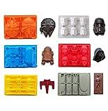 eighteen-u Star War a forma di muffa, set di 6 stampi in silicone flessibile per gli amanti di Star Wars Robots decorazione torta di compleanno Candy stampi cioccolato del sapone ice Cube Jello stampi
