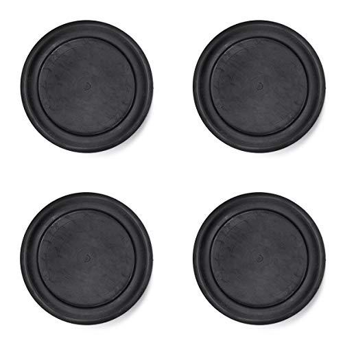 sossai® Pulsar - Waschmaschinen Schwingungsdämpfer | Vibrationsdämpfer | 4 Stück | Farbe: Schwarz | Material: Vollgummi | Anti-Vibration | rutschfest