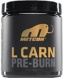 MetCon L Carn - Pre Burn - All Natural Fruit Punch - Non Stimulant Fat Burner - pre Workout - L Carnitine - Thermogenic