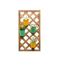 ZWW-フラワースタンド フラワースタンド 植物収納ラック 現代の 単純な 壁掛け式 それぞれ 性格 クリエイティブ 多層 無垢材 屋内 フレーム (Size : 82cm*43cm)