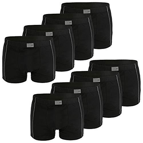 REFLEXX Boxershorts Herren schwarz - 4er oder 8er Pack Herren Boxershort mit 95% Baumwolle - Übergrößen 2XL 3XL 4XL (Gr.9 / XXXL, 8er Pack schwarz)