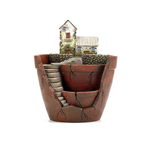 SH Kreativer Pflanzentopf, Mini-Gartentopf, Feengarten-Topf, DIY-Behälter, dekoriert mit Mini-hängenden Feengarten und Süßhaus, Innendekoration und Geschenk