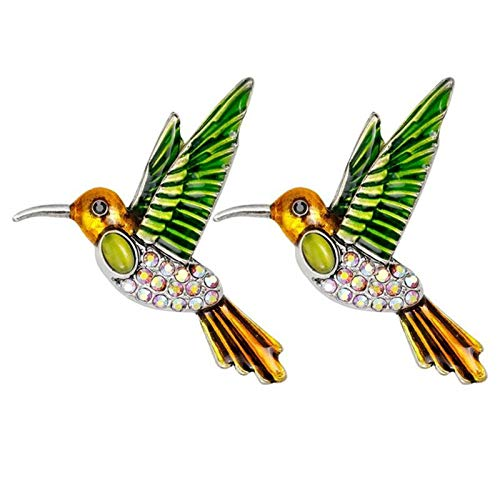 WanXingY 2Pcs Ladies Brooch Hummingbird Brooch Party Accessories Creative Fabric Accessories Retro Ladies Brooch (Color : Golden)