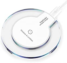 Fantasy Wireless Charger Compatible with iPhone X, 8/8Plus, for Samsung Galaxy S9, S8/S8 Plus Note8 S7 S7 Edge Note 5 S6 Edge, QI Wireless Charging PAD(White)