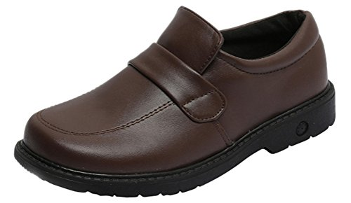 Oxford Shoes Women Heels, Girls JK School Uniform Dress Shoes Cosplay Use (7.5, Brown)