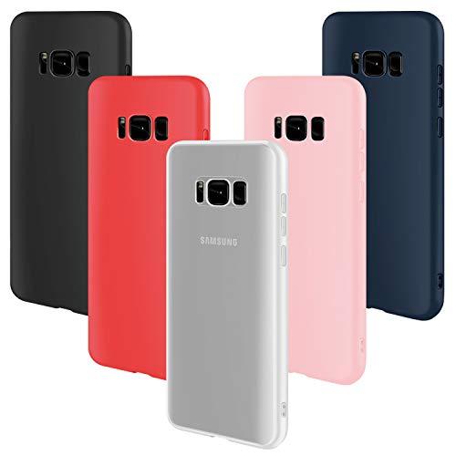 Leathlux Funda Galaxy S8 [5 PCS], 5X Carcasa [Ultra Delgado] Suave TPU Silicona Back Bumper Protector Tapa Flexible Gel 5 Unidades Case para Samsung Galaxy S8 5.8