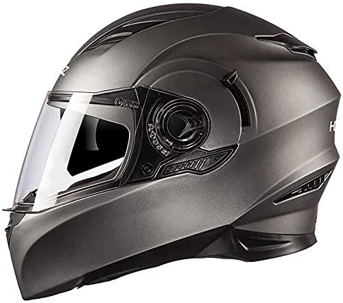 GPFFACAI Casco Integral Moto mujerCasco Integral de Motocicleta, Casco de Motocicleta con Gafas antiniebla Casco Integral Casco Scooter Casco Scooter Casco ciclomotor(Size:Medium)