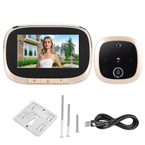 Control remoto de alta definición Video en tiempo real Timbre de la puerta Intercomunicador Visor de la puerta Teléfono inteligente de la puerta Gran angular a todo color para el hogar