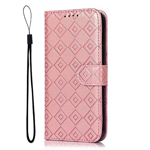 Nokia 5.3 Lederhülle Handyhülle für Nokia 5.3, Premium Book Leder Brieftasche Hülle mit Clip Magnetisch Kartenfach Flip Schutzhülle für Nokia 5.3 Rosa