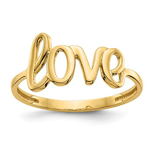 14k Yellow Gold Love Band Ring Size 7.00 S/love Fine Jewelry For Women Gifts For Her