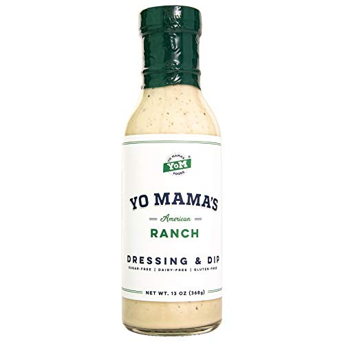 keto salad dressings Keto Friendly Ranch Salad Dressing and Dip by Yo Mama's Foods - Pack of (1) - Low Carb, Low Sodium, and Gluten-Free
