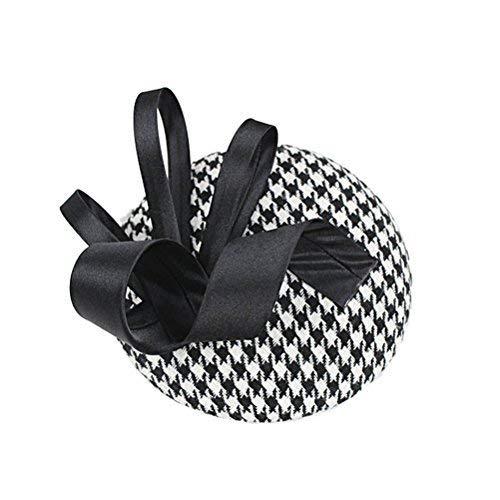 XGBDTJ Fascinator Pillbox Hat Bandeau Dames Élégant De Rétro Mode La Sinamay Mode de Vie Business Party Une Occasion Spéciale Bowler Hat Bandeau Clip (Color : Picture, Size : One Size)