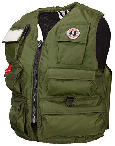 Mustang Survival - Manual Inflatable Fisherman's Vest - Olive, Small