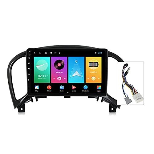 Gokiu Android 10 2 DIN Stereo Auto per Nissan Juke YF15 2010-2014 con 9' Touch Screen Supporta la Funzione Comandi al Volante Bluetooth Vivavoce FM AM RDS 4G/5G WiFi Carplay Android Auto,Plug a,M150