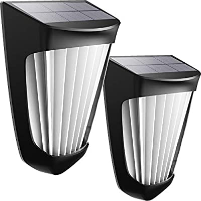 Solar Wall Lights Outdoor,Solar Deck Light 10 LED Wireless IP54 Waterproof Security Solar Motion Lights for Outdoor Deck, Patio, Stair, Yard, Path and Driveway(2 Packs)
