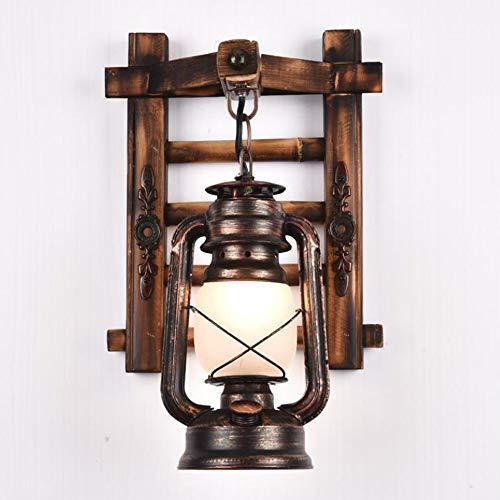 Lámpara De Pared Retro Madera Escalera Industrial Vintage I