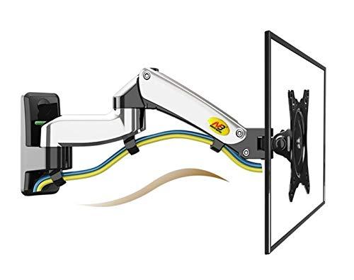 NKLL Soporte de la computadora Aleación De Aluminio 360 Grados 17'-27' Monitoreo De Gases De Gas De Gas LED LED LCD LCD Instalación De La Carga 2-7kgs para Escritorio (Colore : Black)