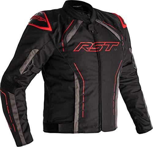 RST S-1 Motorrad Textiljacke Schwarz/Grau/Rot 52