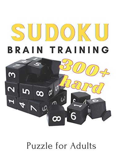 Sudoku Brain Training Puzzle for Adults: 300 + Hard Puzzle Activity for Sudoku Masters Training Concentrate Stress Relief Relaxing