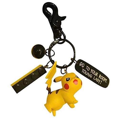 sazxcv Pokemon Pikachu creatieve persoonlijkheid pop auto sleutelhanger tas Trailer