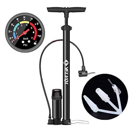 Ergonomic Bicycle Bike Floor Pump with Gauge & Smart Valve Head, 160 psi
