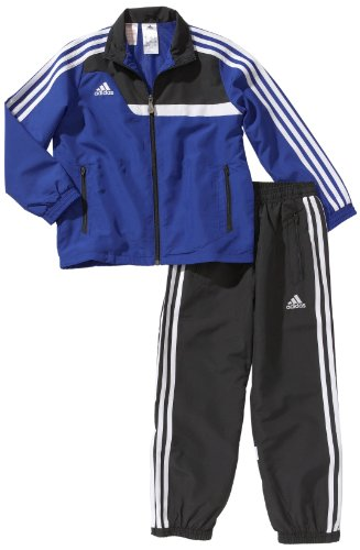 adidas Kinder Bekleidung Trainingsanzug Tiro 13 Presentation, Top:Cobalt/Black/White Bottom :Black/White, 140
