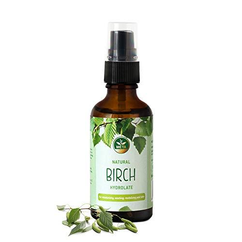 Hidrolato orgánico auténtico con hojas de abedul, tónico facial orgánico, agua natural para piel y cabello, destilado natural, hidrolato sin alcohol, cosmética natural vegana