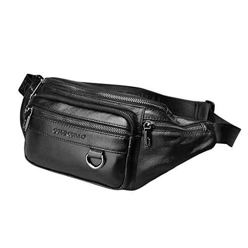 Vooo4cc Leather Fanny Pack Mens Genuine Leather Waist Bag Sport Travel Hiking