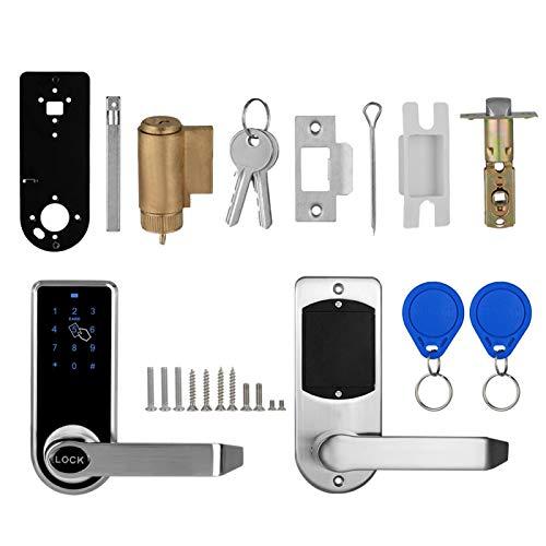 Pelnotac Touchscreen Electronic Door Lock, Keyless Entry Door Lock Electronic Touchscreen Keypad Lock for Home Hotel Office