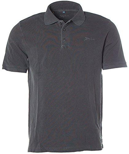 Signum Herren Pikee Poloshirt Polo T-Shirt Grau S