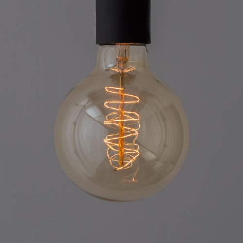 EDISON LAMP (エジソンランプ・クラシックランプ・ビンテージランプ)G95 / SPIRAL/FAINT YELLOW